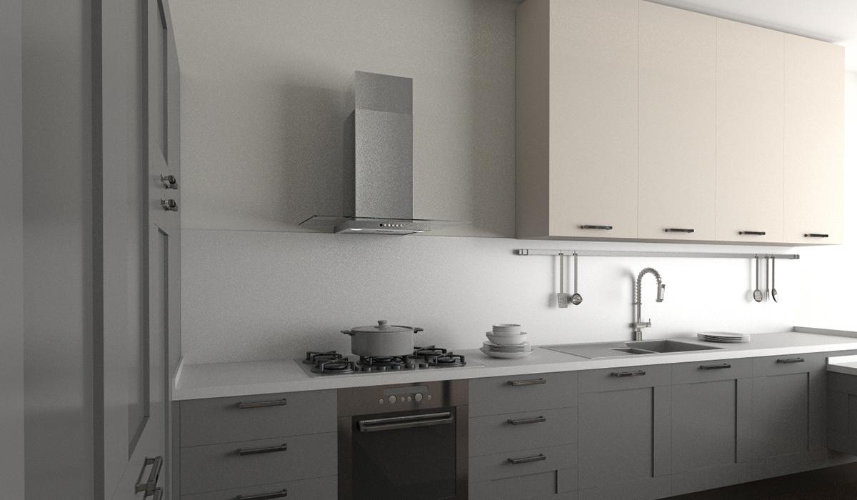 Elegant glass flat canopy kitchen range hood