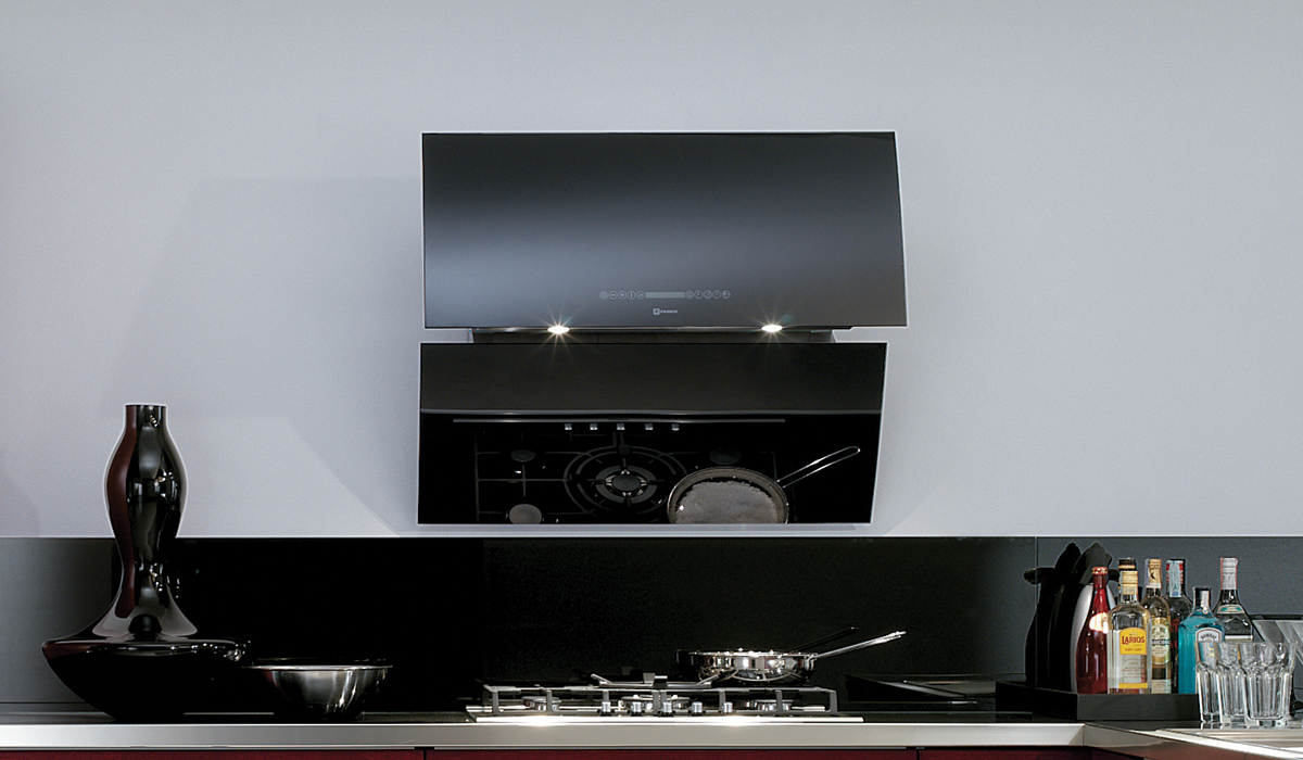 Model: MIRR36BK | Faber black glass masterpiece that hangs on your wall
