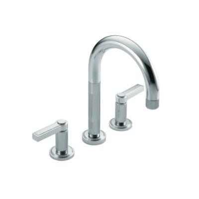 Kallista P24103 Lv Ag Vir Stil R By Laura Kirar Deck Mounted Bath Faucet Set Lever Handles P24103 Lv Ag Snyder Diamond Kitchen Bath