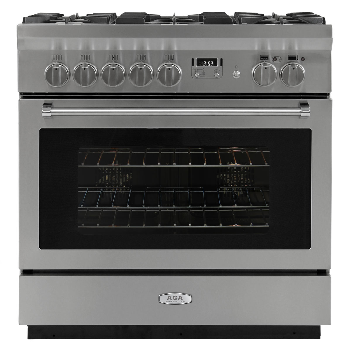 "Model: AMPRO36DF | Aga AGA Professional 36"" Dual Fuel Self-Cleaning Range"