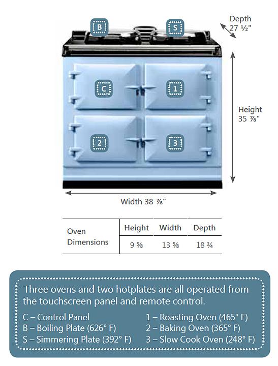 Model: ADC3G-DBL | Aga AGA Dual Control 3-Oven Natural Gas