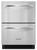 Model: KDDC24RVS | KitchenAid 5.1 Cu. Ft. 24'' Double-Drawer Refrigerator Architect Series II