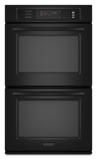 Model: KEBS208SBL | KitchenAid 4.3 cu. ft. Even-Heat True Convection System in Upper and Lower Oven Architect Series II