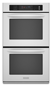 Model: 9-KEBS208SWH-AD12 | KitchenAid 4.3 cu. ft. Even-Heat True Convection System in Upper and Lower Oven Architect Series II