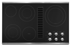 36-Inch 5 Element Downdraft Electric Cooktop, Architect Series II