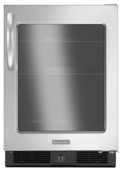 Model: KURG24RWBS | KitchenAid 5.6 Cu. Ft. 24'' Specialty Refrigerator, Right-Hand Door Swing, Architect Series II