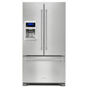 Model: 3KRFC400ESSWEB | 20 cu. Ft. 36-Inch Width Counter Depth French Door Refrigerator with Exterior Ice and Water