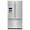20 cu. Ft. 36-Inch Width Counter Depth French Door Refrigerator with Exterior Ice and Water