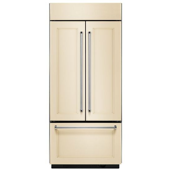 "Model: KBFN406EPA | KitchenAid 20.8 Cu. Ft. 36"" Width Built In Panel Ready French Door Refrigerator"