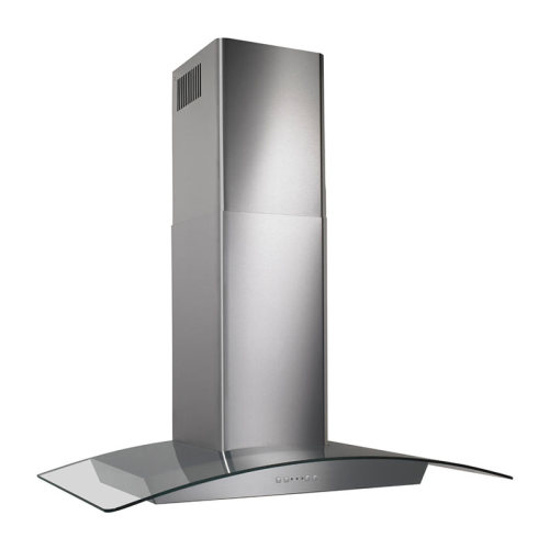 "Broan 30"", Stainless steel, Curved Glass Canopy, 500 CFM, Electronic Control"