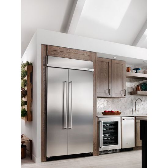 Beau 25.5 Cu. Ft 42 Inch Width Built In Side By Side Refrigerator With