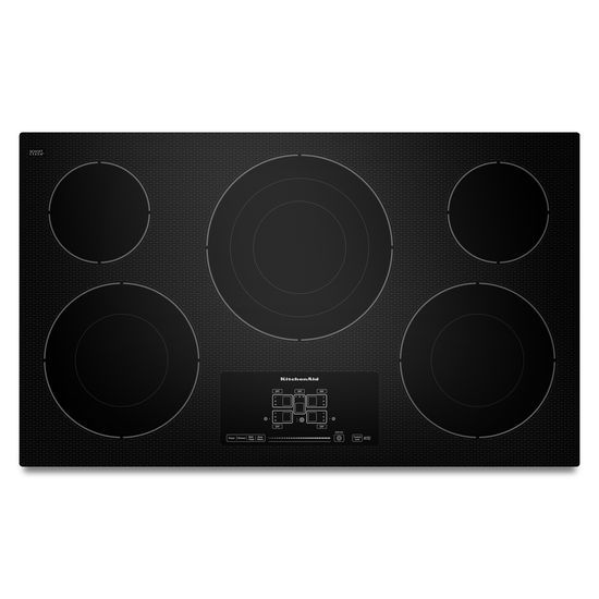 "KitchenAid 36"" Electric Cooktop with 5 Radiant Elements and Touch-Activated Controls - Obsolete"