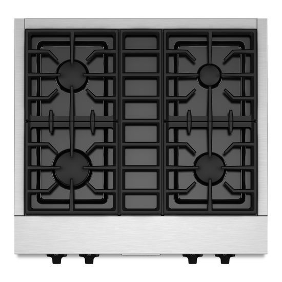 30-Inch 4 Burner Gas Rangetop, Commercial-Style