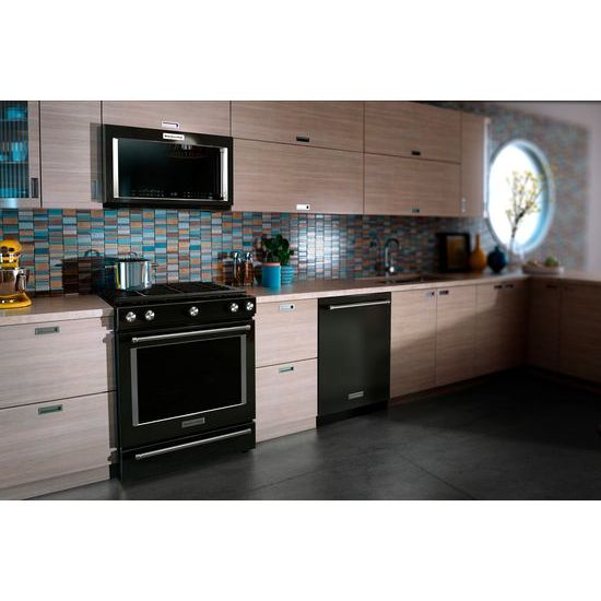 Model: KMHC319EBL | KitchenAid 1000-Watt Convection Microwave Hood Combination