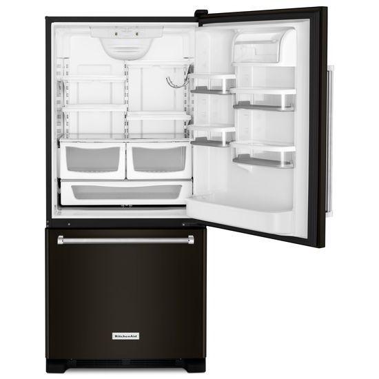 Model: KRBX109EBL | 19 cu. ft. 30-Inch Width Full Depth Non Dispense Bottom Mount Refrigerator