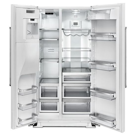 Model: KRSF505EWH | 24.8 Cu. Ft. Standard Depth Side-by-Side Refrigerator with Exterior Ice and Water