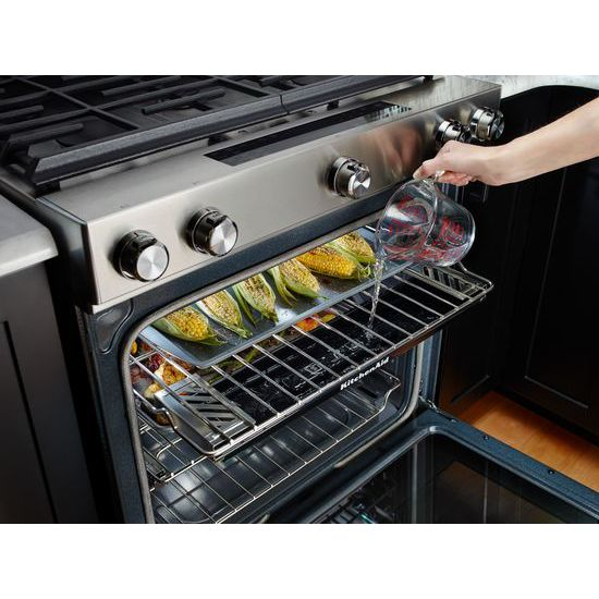 30-Inch 5 Burner Gas Convection Slide-In Range with Baking Drawer