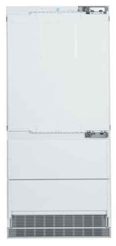 Combined refrigerator-freezer with BioFresh and NoFrost for integrated use