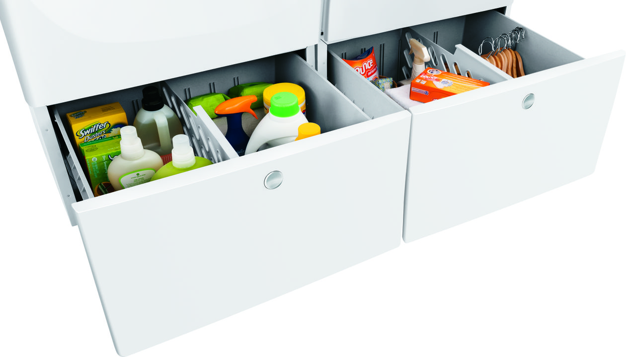 Model: EPWD157SIW | Luxury-Glide® Pedestal with Spacious Storage Drawer