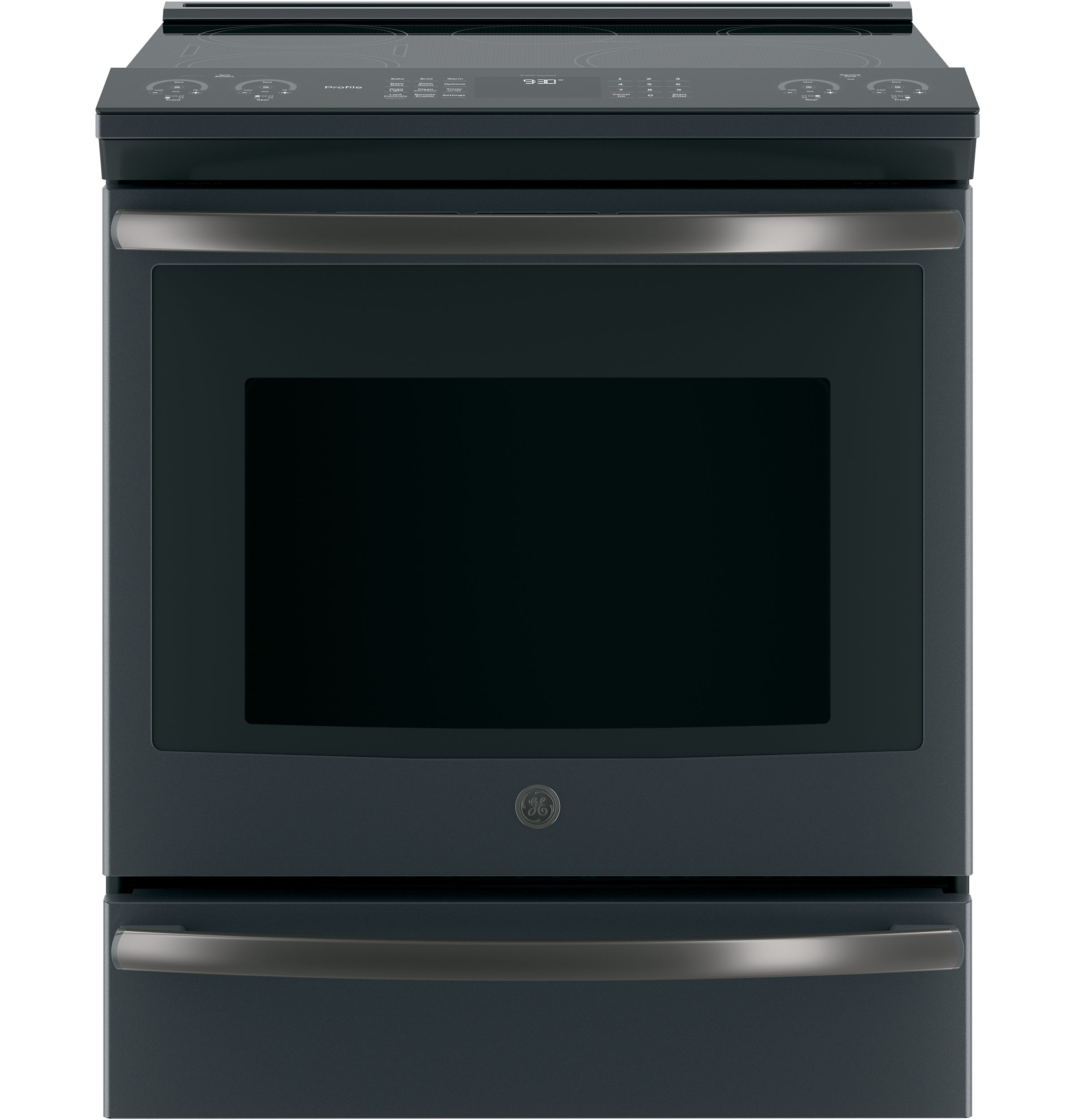 "GE Profile GE Profile™ Series 30"" Slide-In Front Control Induction and Convection Range"