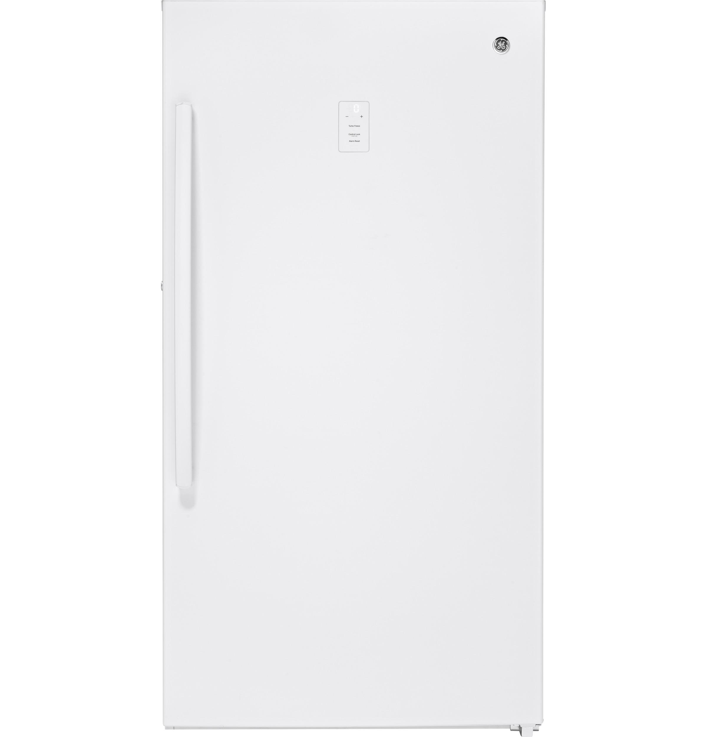 Ge Fuf17smrww 173 Cu Ft Frost Free Upright Freezer Alarm