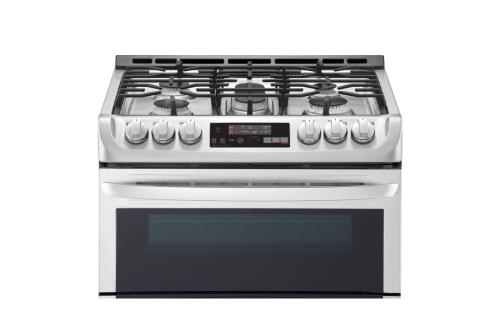 "Model: LTG4715ST | LG 30"" GAS DOUBLE SLIDE-IN RANGE"