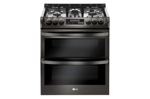 "LG 30"" GAS DOUBLE SLIDE-IN RANGE"