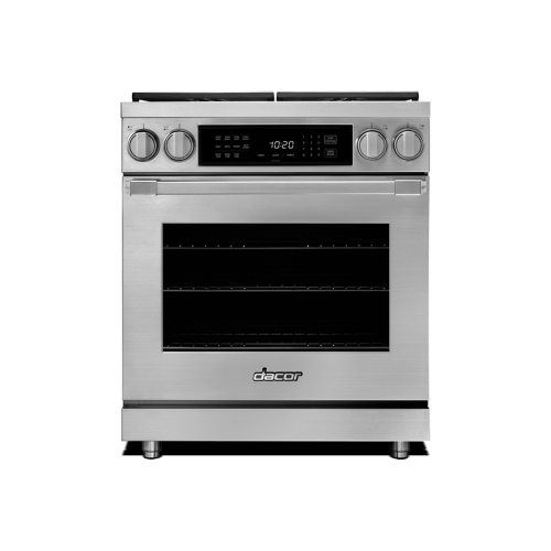 """30"""" Heritage Dual Fuel Pro Range - Stainless Steel Natural Gas"""