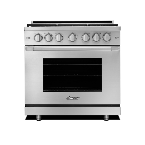 "36"" Heritage All Gas Pro Range - Stainless Steel Natural Gas"