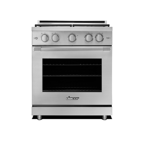 "Model: HGPR30S/NG | Dacor 30"" Heritage All Gas Pro Range - Stainless Steel  Natural Gas"