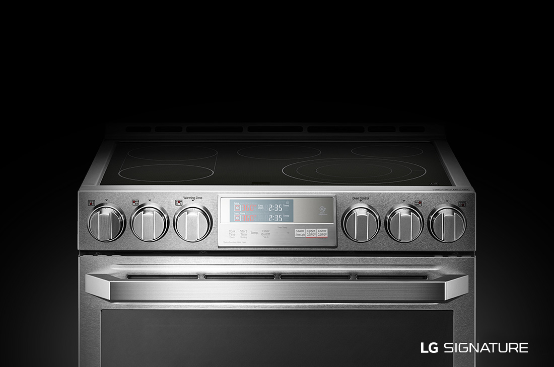 LG SIGNATURE 7.3 cu.ft. Smart wi-fi Enabled Electric Double Oven Slide-In Range with ProBake Conv