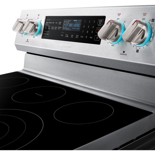 Model: NE59N6650SS | Samsung 5.9 CU FT ELECTRIC RANGE, WI-FI, ILLUMINATED KNOBS, STEAM ASSIST - STAINLESS STEEL