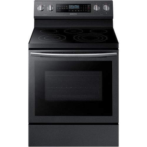 5.9 CU FT ELECTRIC RANGE, WI-FI, ILLUMINATED KNOBS, STEAM ASSIST - BLACK STAINLESS STEEL