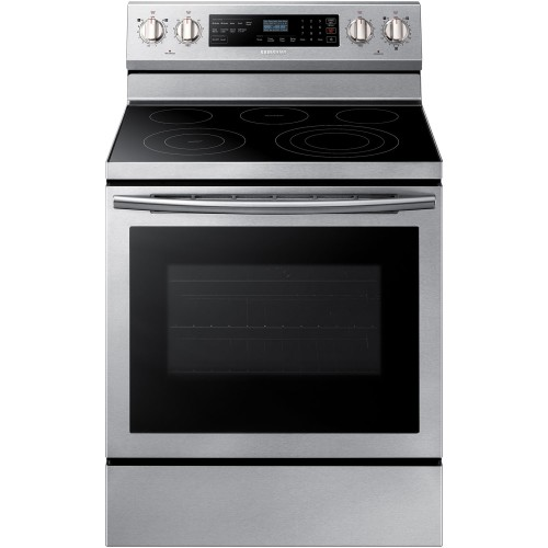 Samsung 5.9 CU FT ELECTRIC RANGE, TRUE CONVECTION, RAPID BOIL - STAINLESS STEEL