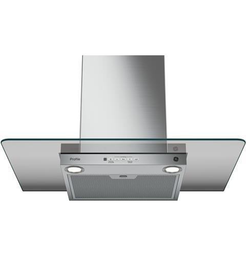 "Model: PVW7301SJSS | GE Profile GE Profile™ Series 30"" Wall-Mount Glass Canopy Chimney Hood"