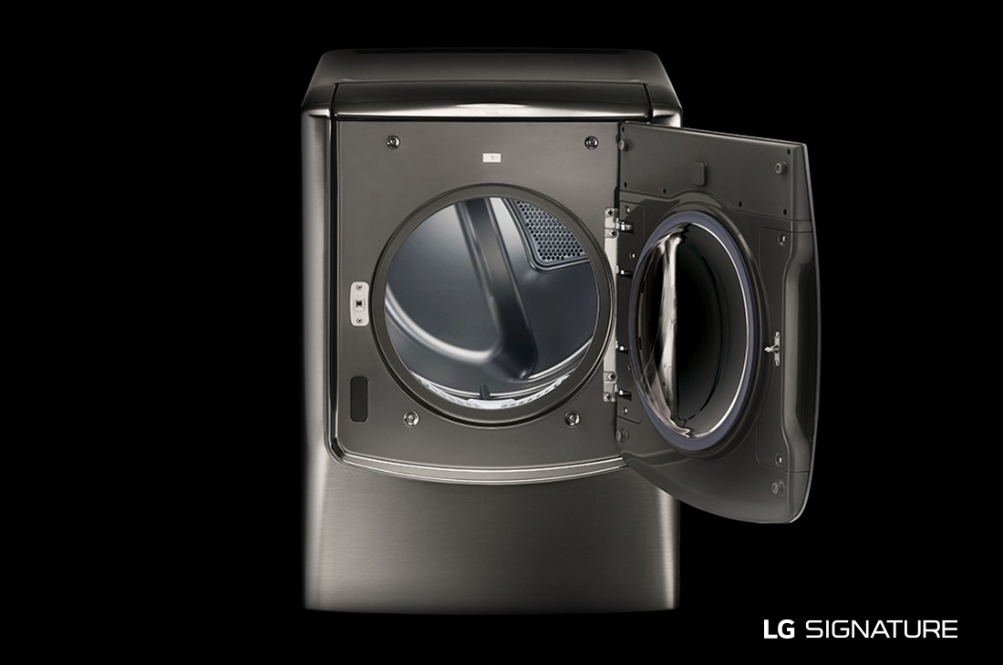 Model: DLEX9500K | LG Signature LG SIGNATURE 9.0 cu. ft. Large Smart wi-fi Enabled Electric Dryer w/ TurboSteam™