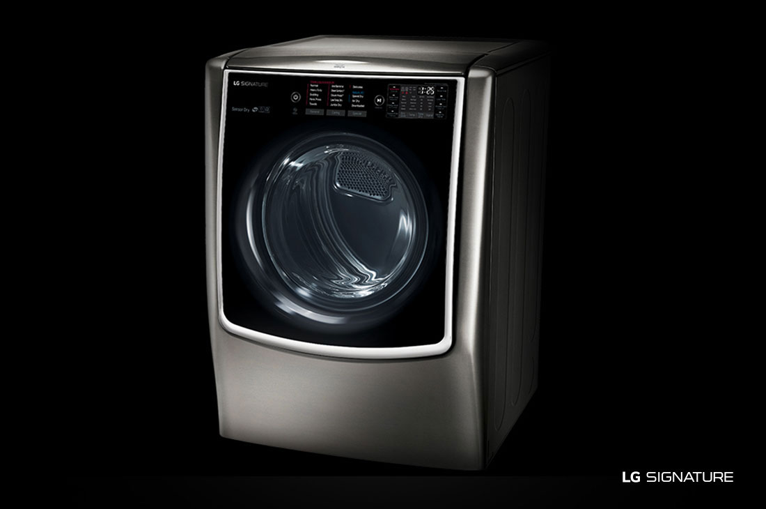 LG SIGNATURE 9.0 cu. ft. Large Smart wi-fi Enabled Gas Dryer w/ TurboSteam™