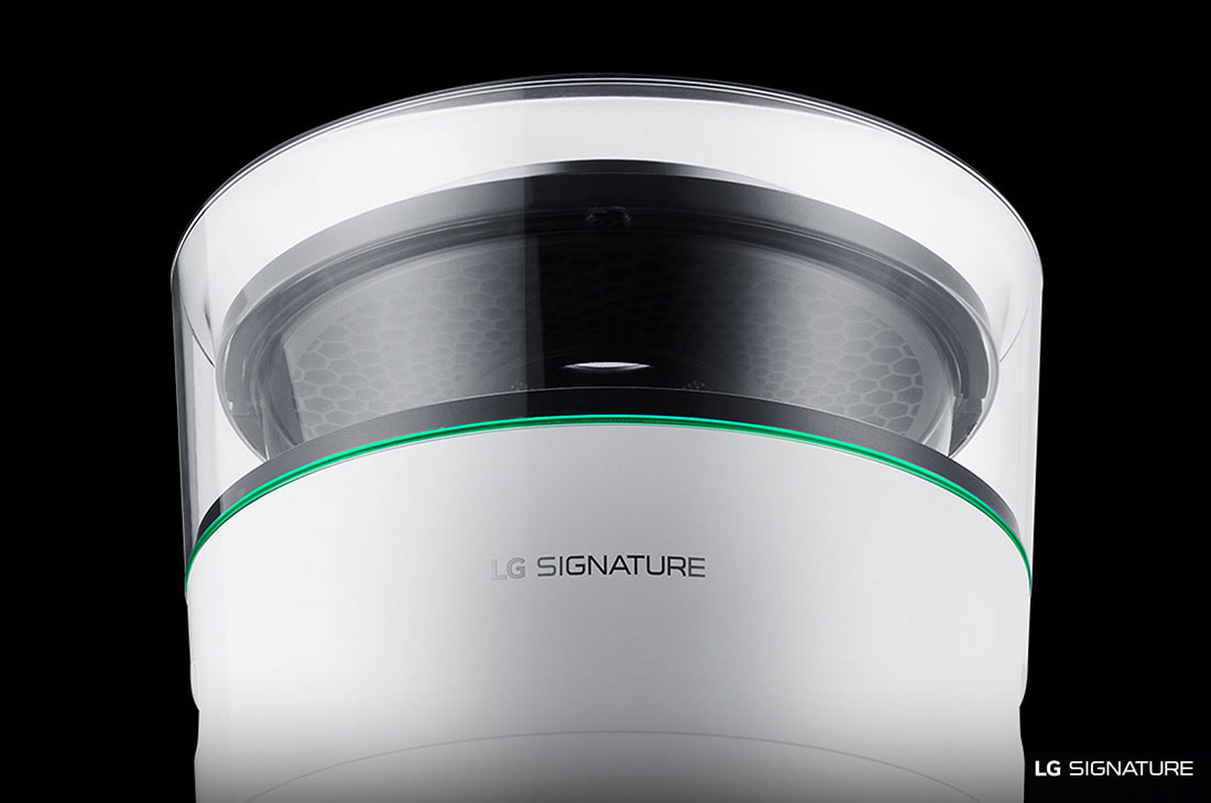 Model: AM501YWM1 | LG Signature LG SIGNATURE Smart wi-fi Enabled Air Purifier
