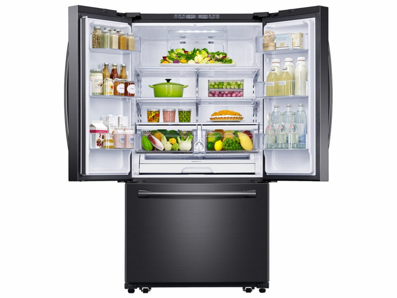 Samsung Rf261beaesg 26 Cu Ft French Door Refrigerator With