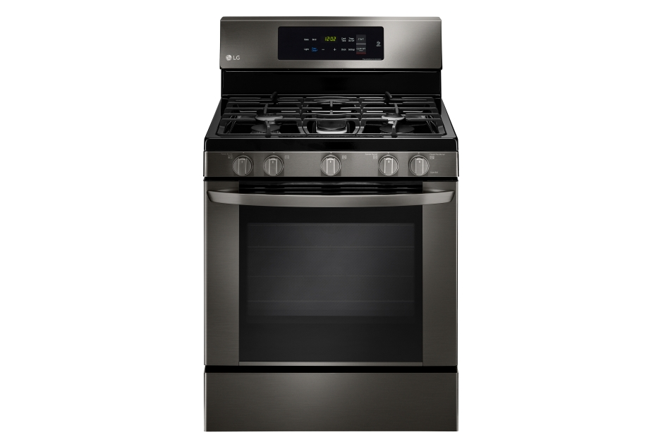 LG - LRG3061BD - 5.4 cu. ft. Gas Single Oven Range with EasyClean ...