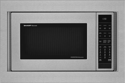 "Sharp Appliances 27"" Wide Microwave  Built in Trim KIt"