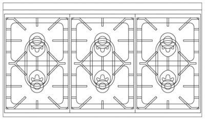 """Viking VIKING TUSCANY 48"""" DF RANGE 6 BURNER- DB"""