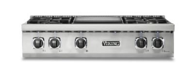 "Model: VRT5364GSS | Viking CUSTOM GAS 36""W RANGETOP 4G- SS"