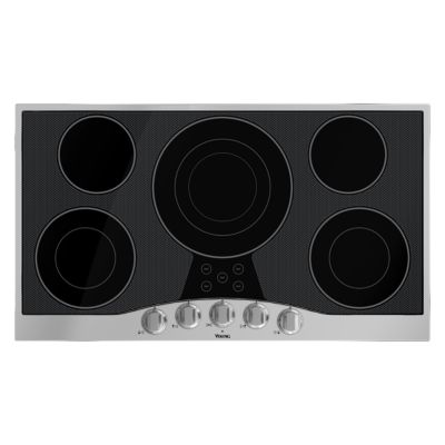"Viking 36"" KNOB ELECTRIC COOKTOP - 5 BURNER - SB"