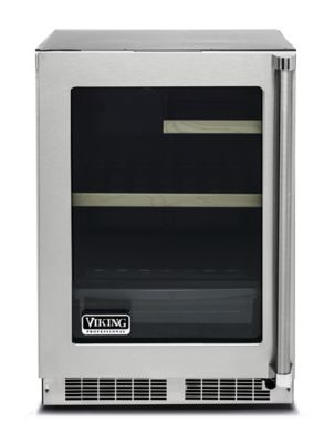 "Viking 24""W REFRIGERATOR- CLEAR GLASS DOOR- STAINLESS"