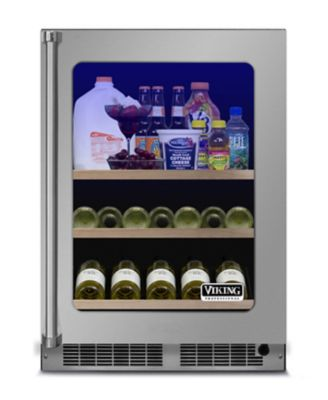 """Viking 24""""W REFRIGERATED BEVERAGE CENTER- CLEAR GLASS- STAINLESS"""