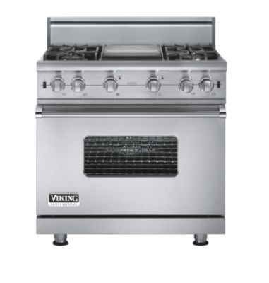 "Viking PRO GAS  36""W SEAL BURNER RANGE - 4G - SS"