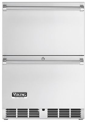 "Viking 24""W OUTDOOR REFRIGERATED DRAWERS- SS"