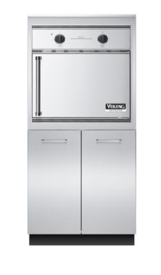 "Viking 32""W X 30""D X 68""H SMOKER OVEN BASE WITH STORAGE"