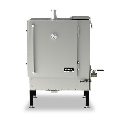 "Viking 36"" W. CHARCOAL PORTABLE GRAVITY FEED SMOKER - SS"